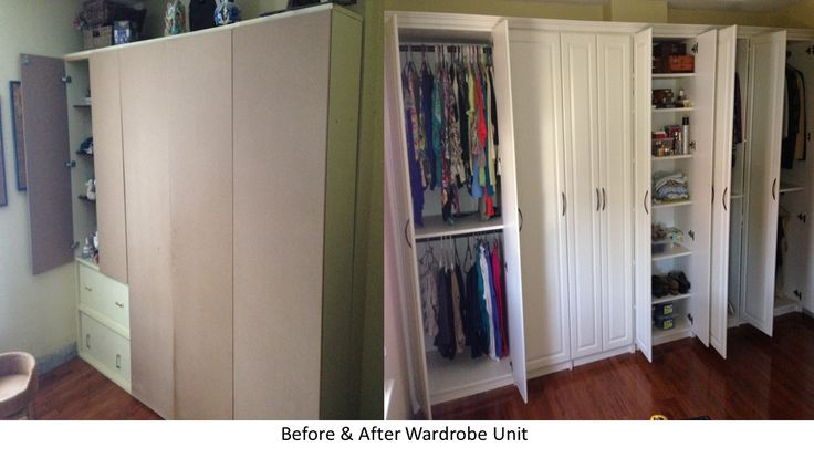 We needed to add drama to this master makeover! Not only did we update the space, we more than doubled the storage capacity.