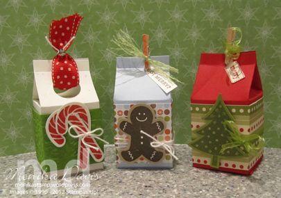 Compartir en Facebook¿Buscas una original manera de crear cajas navideñas? En la época de navidad siempre se hacen pequeños detalles y obsequios que quedan mucho mejor si los presentas en una caja de regalo decorada. Aprende hoy cómo crearlas partiendo de cajas de cartón de leche u otros envases. ¡Verás que maravillas creas con muy poco dinero y esfuerzo! Hoy te dejo unas cuantas propuestas para que te inspires a la hora de crear tus cajitas de navidad. Además, para que te resulte más fácil…