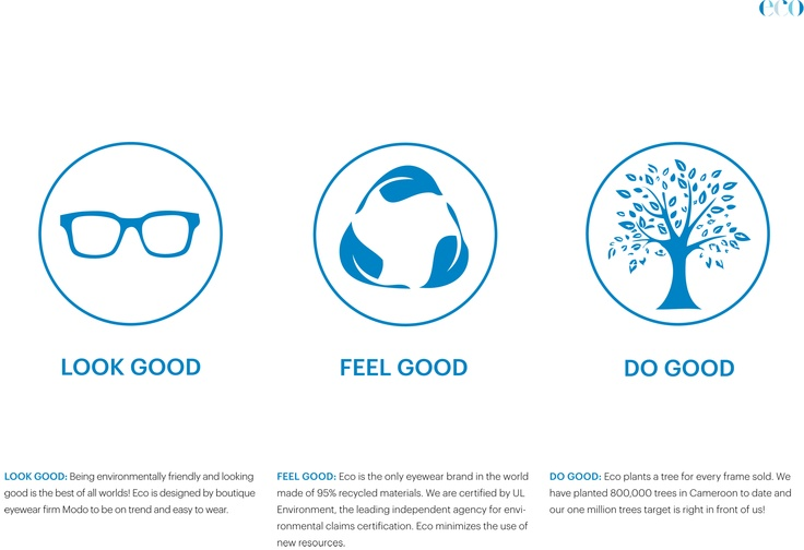 Eco: Look good, Feel good, Do good.