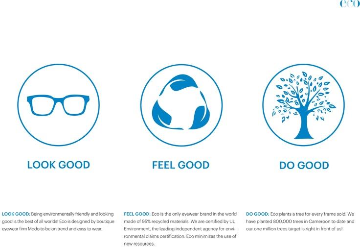 Eco: Look good, Feel good, Do good.