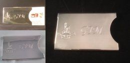 Hallmarked sterling silver business card case, with any engraving that you want.  £250.00 plus p&p, 6 weeks to deliver