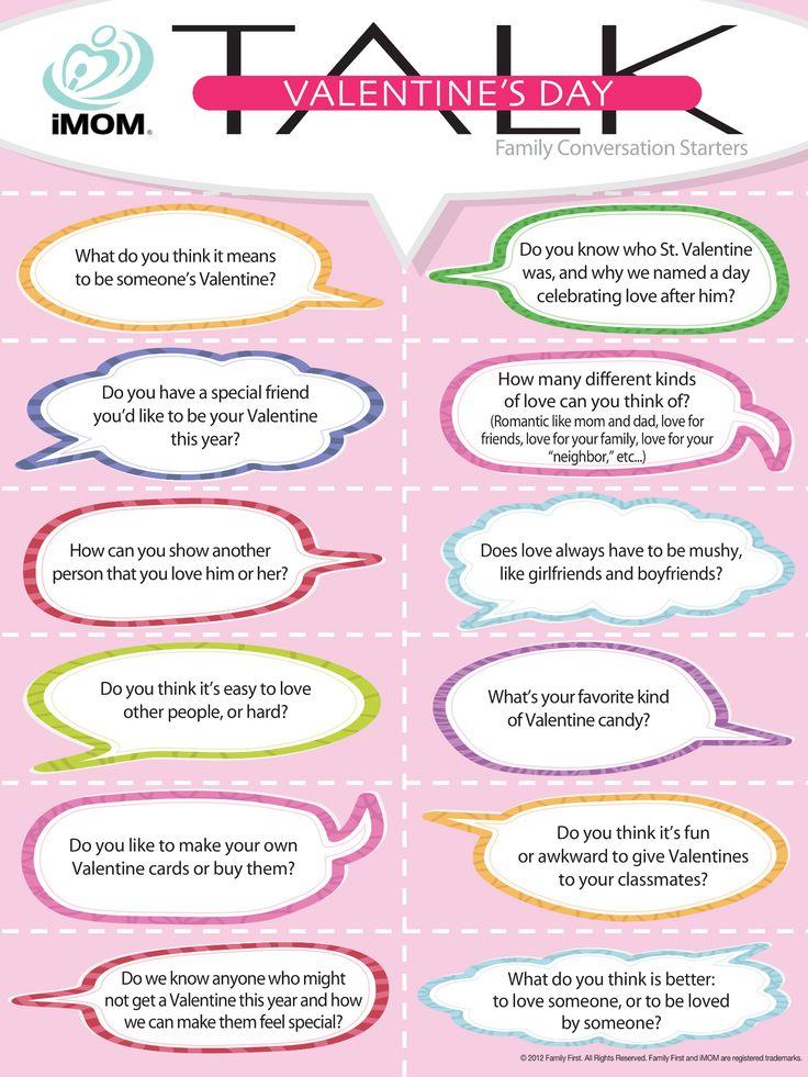 Valentine's Day Talk, Conversation Starters