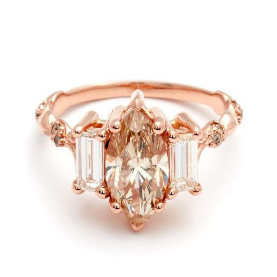 Custom Marquise Engagement ring || ANNA SHEFFIELD