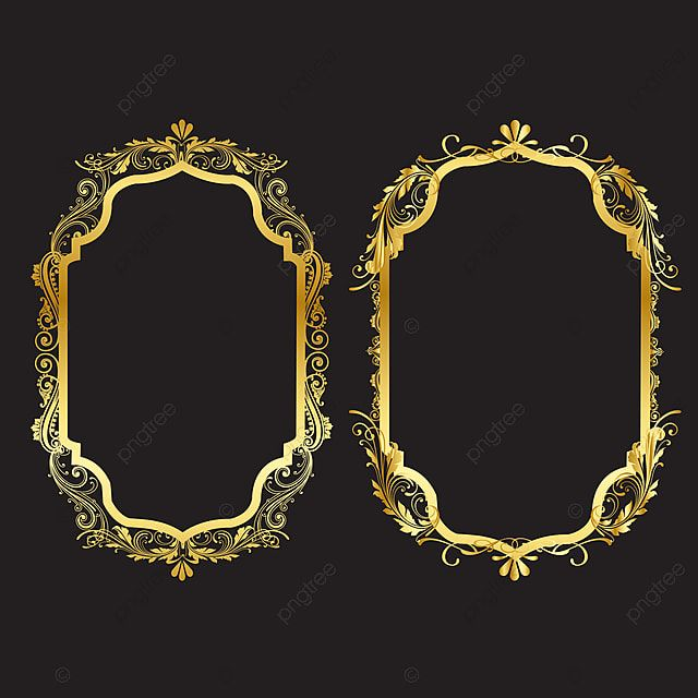 مجموعة من إطارات الحدود الزخرفية خمر تعيين إطار الصورة الذهبية مع الزاوية تايلاند خط الأزهار للصور ناقلات تصميم الديكور نمط نمط تصميم الحدود هو نمط التايلاندية Vintage Frames Gold Photo