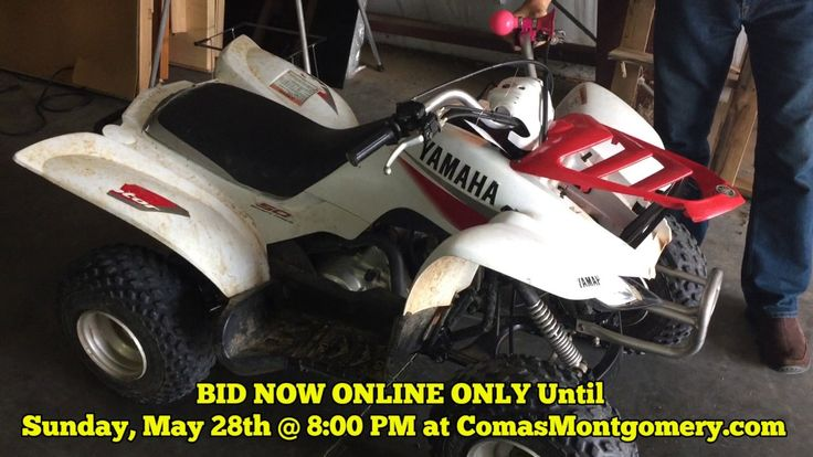 ONLINE AUCTION ends May 28th, 2017: Yamaha 4 Wheeler For Sale - BID NOW