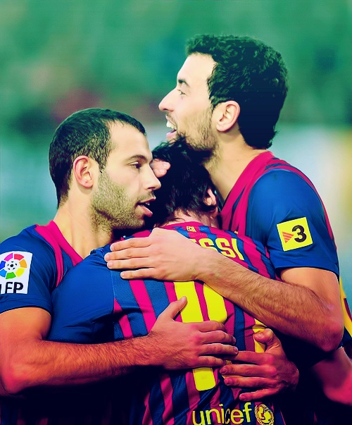 Mascherano, Busquets & Messi
