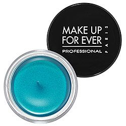 Make Up Forever Aqua Cream.  Warning: These are highly addictive. Once you get one you will want them in every colour. I use them as eye shadow and cream liners.   Tip: Blend quickly because once these colours are on they will not budge, no matter how much you sweat or swim. $22.