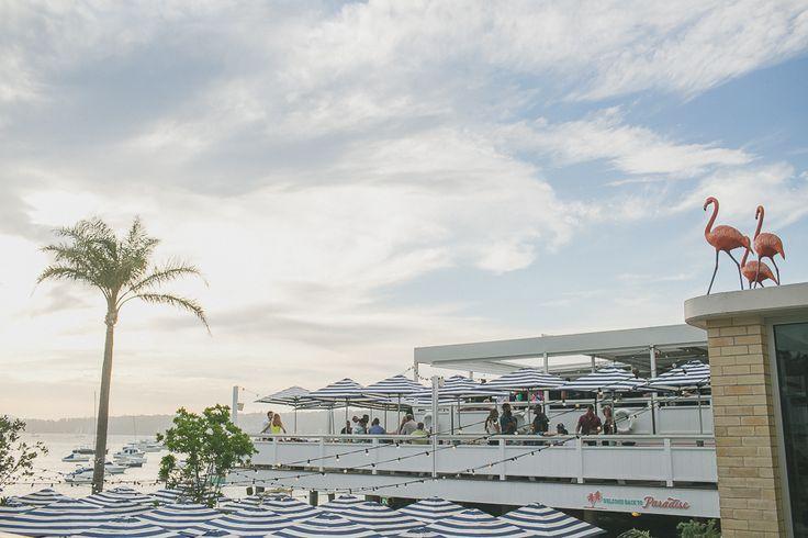 Ella + Ted   Watsons Bay Boutique Hotel waterfront wedding   Beach Club
