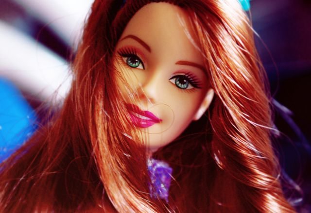 Auburn-haired Barbie