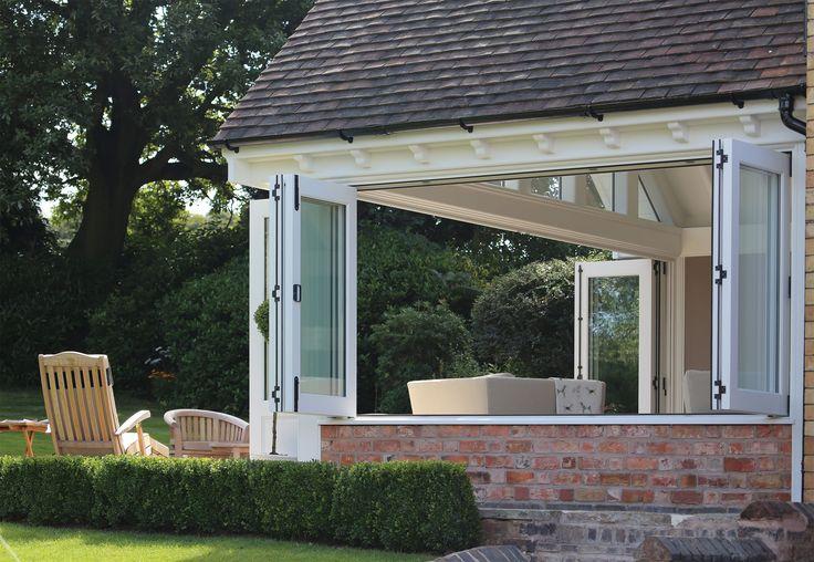 Stunning garden room featuring bi-folding windows