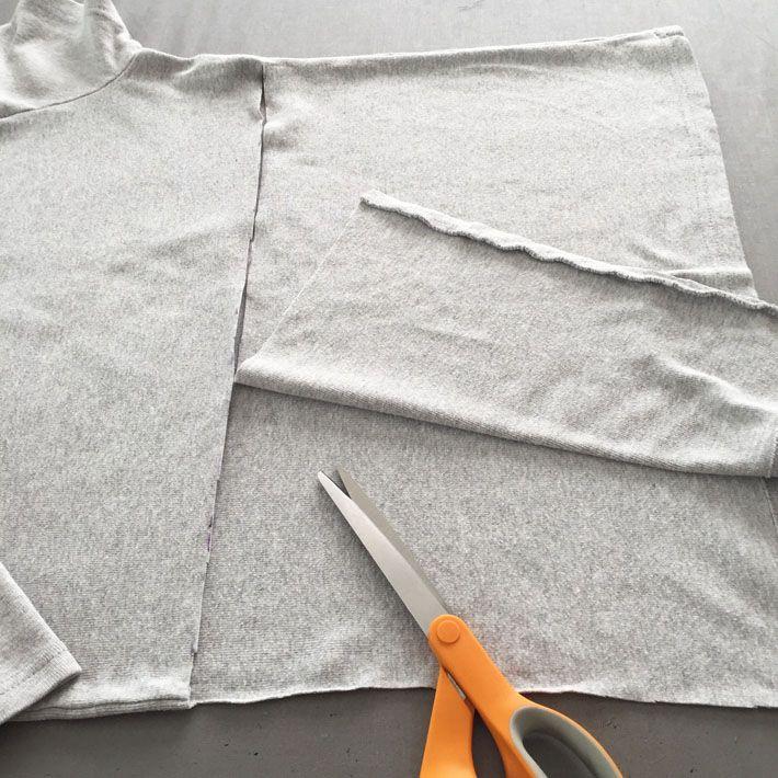 cut back of t-shirt
