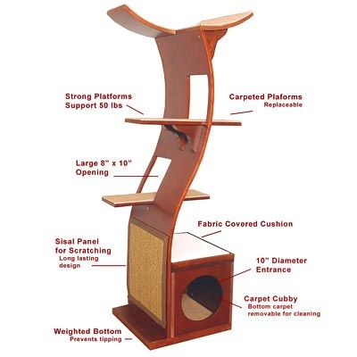 diy cat tower plans - Google Search