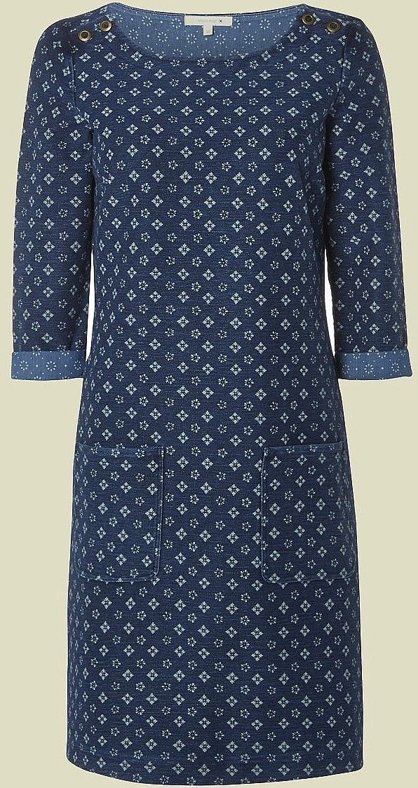 Womens air force blue dress from White Stuff - £59.95 at ClothingByColour.com