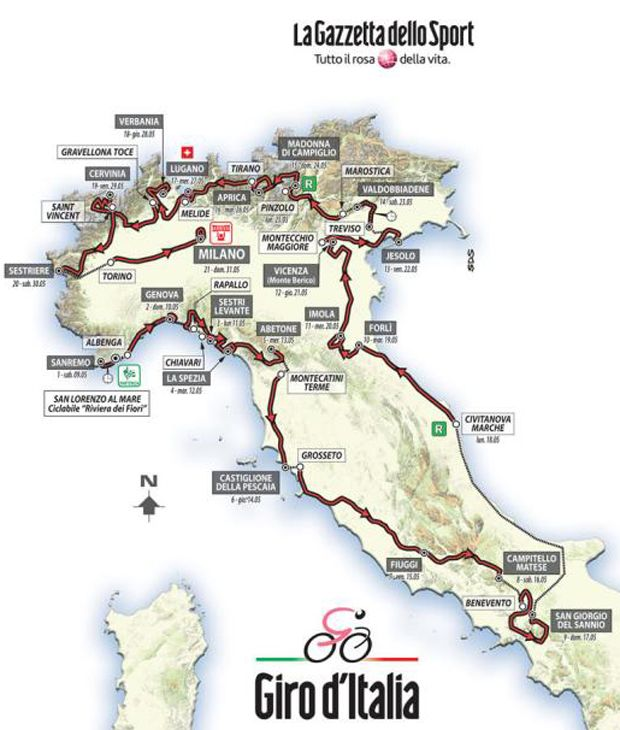 Giro d'Italia 2015 Corsa: The PEZ First Look! April 29, 2015