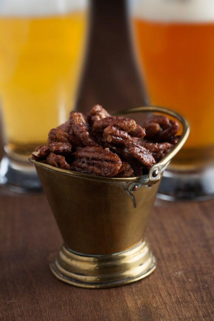 Spicy and Sweet Roasted Pecans make an amazing gift, appetizer, or anytime snack!