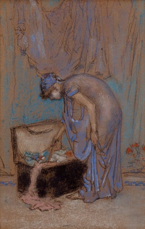 The Violet Note / James McNeill Whistler /  1885-86 / Chalk and pastel on cardboard