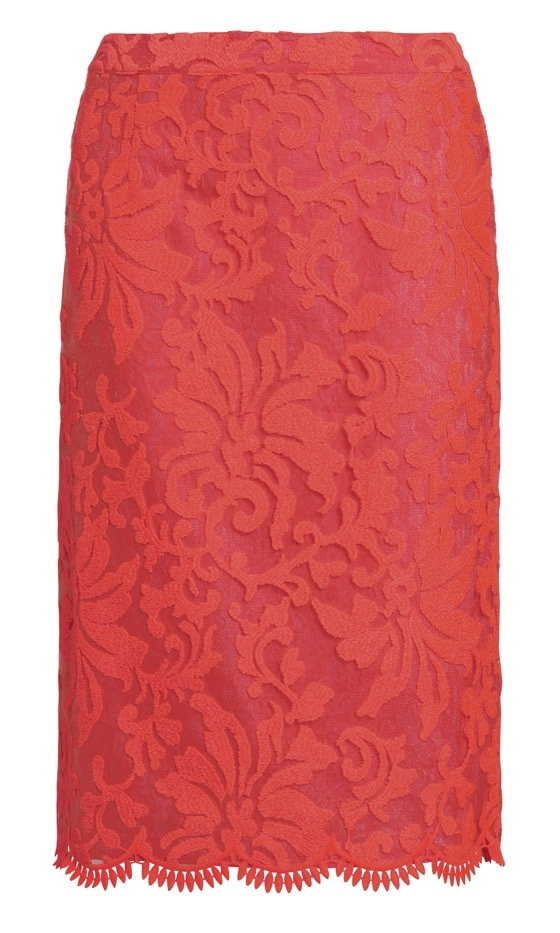 Next Summer 2013: Red Lace Skirt