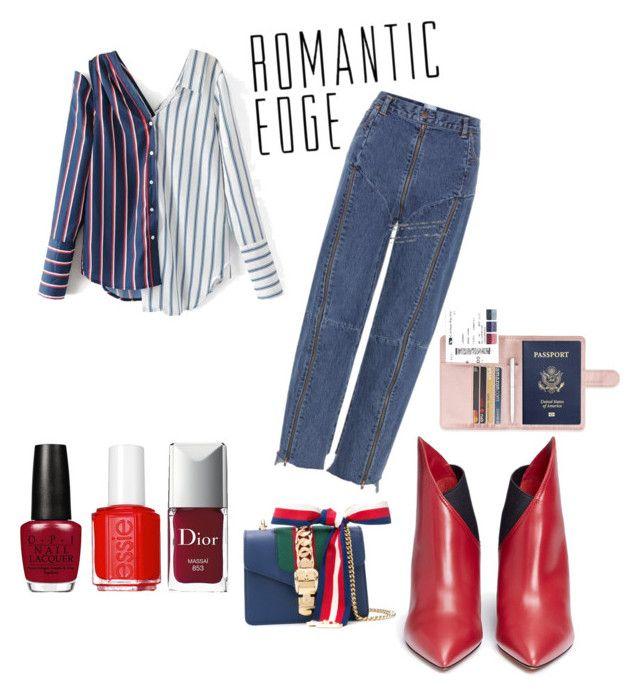 """Romantic Edge"" by irini-stam on Polyvore featuring Vetements, Valentino, Essie, Christian Dior and Gucci"
