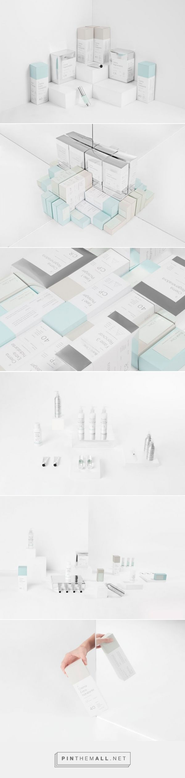 Boine Clinic beauty packaging designed by Sabbath​ - http://www.packagingoftheworld.com/2015/07/boine-clinic.html
