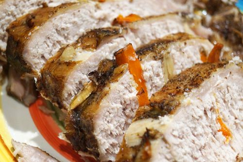 stuffed boneless pork rib roast Recipe
