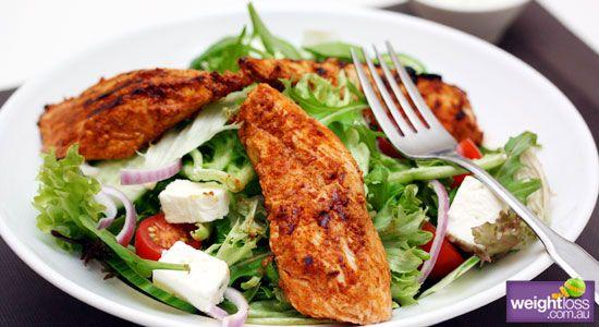 Healthy Salad Recipes: Tandoori Chicken Salad. #HealthyRecipes #DietRecipes #WeightlossRecipes weightloss.com.au