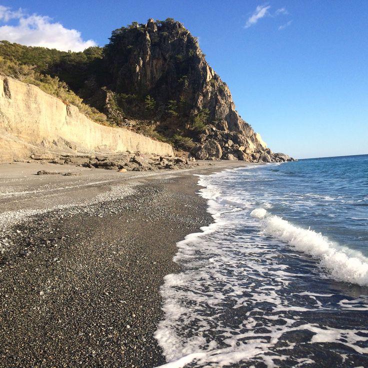 Do you feel like swimming? Domata beach, south Crete, Greece.