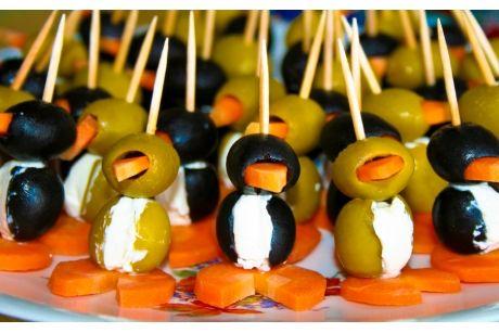 Antipasti Estivi Facili: Ricette Pinguini con Olive, Carote e Philadelphia