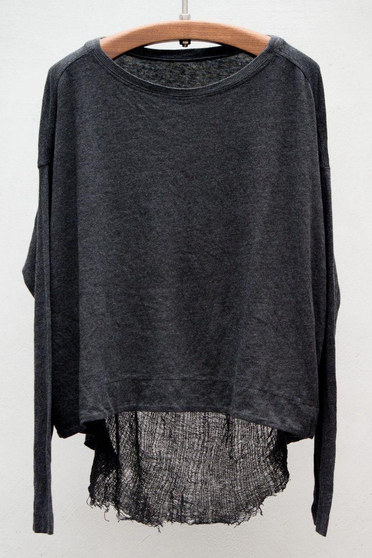 Basics Long Sleeve Reversible Cocoon — Raquel Allegra