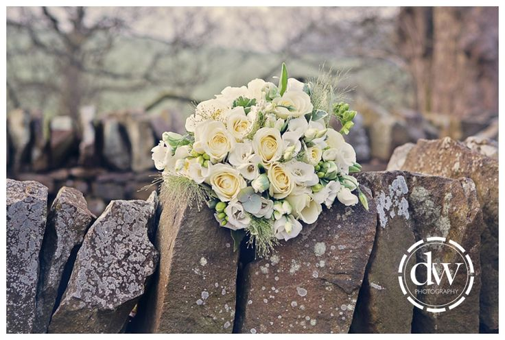 Wedding Brides Flowers at The Inn at Whitewell, Lancashire