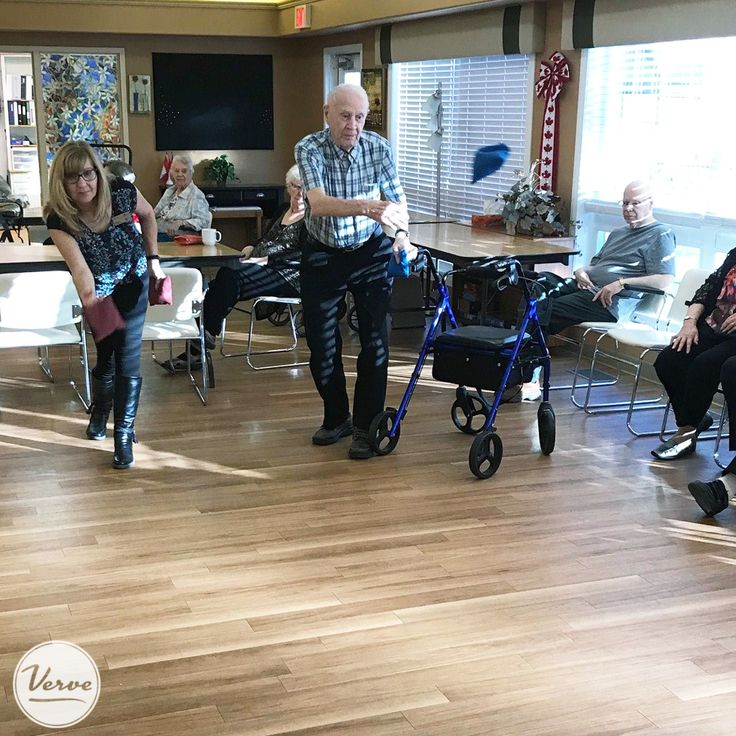 Residents at Dr. Hemstock challenged the staff to a game of bean bag toss. The residents won!