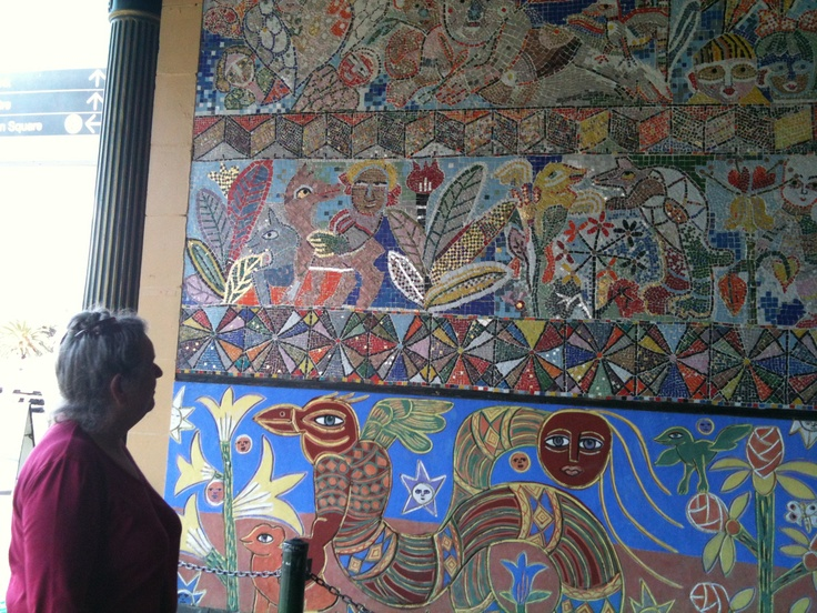 Mirka Mora mosaic at Flinders Street Station