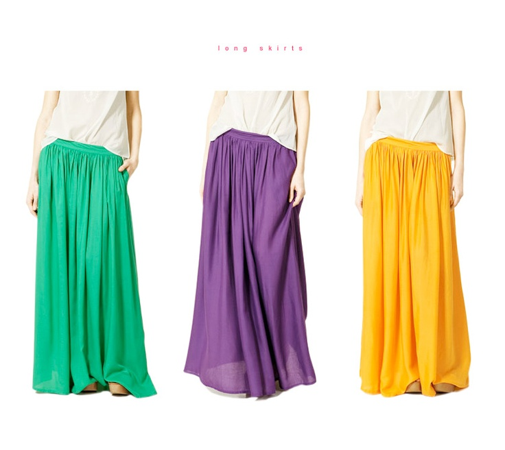maxi skirts: Bikinis Tops, Clothing Styl, Cute Outfits, Long Skirts, Closet, Luv Long, Clothing Shoes Pur, Bright Colors, Maxi Skirts