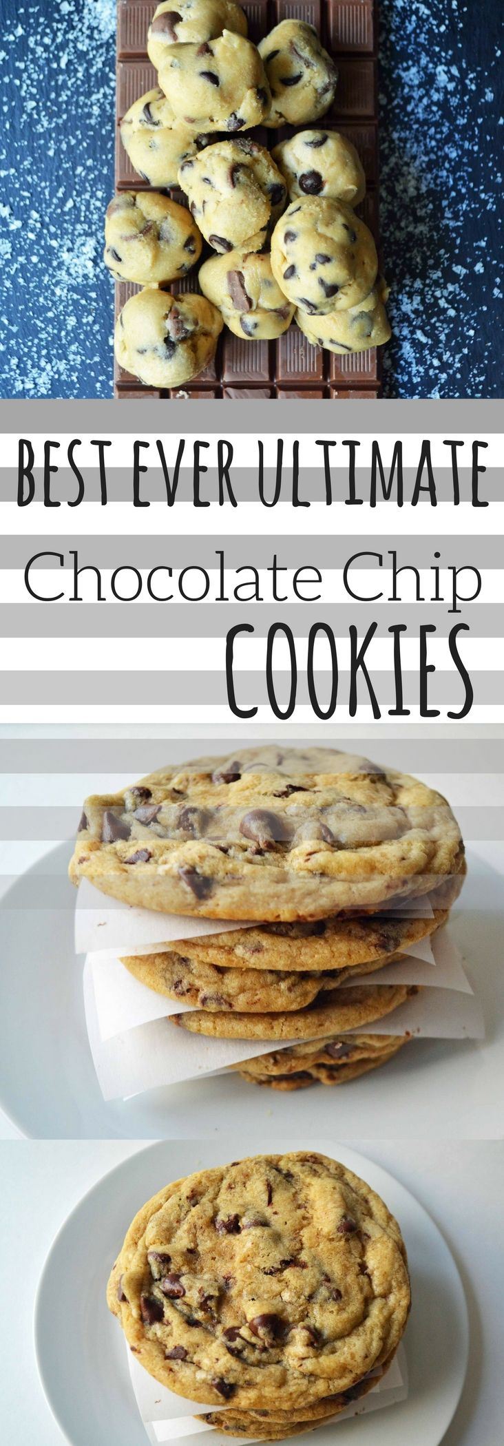 The Best Ever Ultimate Chocolate Chip Cookies. The classic recipe with a few twists and all of the secrets to making perfect chocolate chip cookies.
