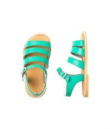 Sandales fille en cuir à boucle - Chaussures - Fille