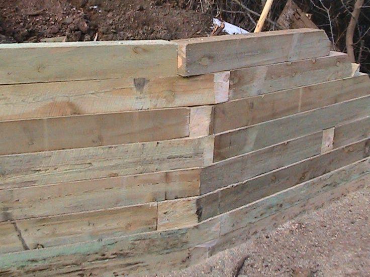 How To Build A Timber Retaining Wall Sprinkler System Diy Landscaping Retaining Walls Sprinkler System Installation