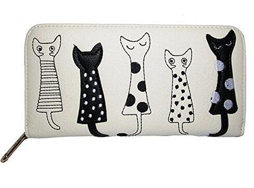 New Trending Purses: FXTXYMX Women PU Cute Cat Printing Long Wallet Zipper Purse Student Money Clip (White). FXTXYMX Women PU Cute Cat Printing Long Wallet Zipper Purse Student Money Clip (White)   Special Offer: $10.09      200 Reviews Usage: 1)Put It Into Your Handbag, Can Hold Bills, Change, Credit Cards, Photo, ID Card, Business Card, etc 2)Designed To Hold Cash, Cards And Other Little...