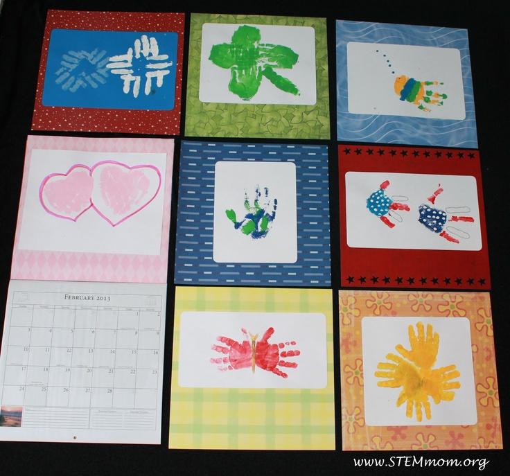 Calendar Handprint Art : Best images about handprint calendars on pinterest