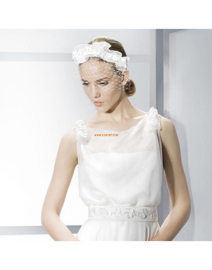 Traîne mi-longue Elégant & Luxueux Sans manches Robes de mariée pas cher
