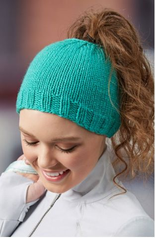 Trendy Knit Bun Hat | Bun and ponytail hats have taken the knitting world by storm!