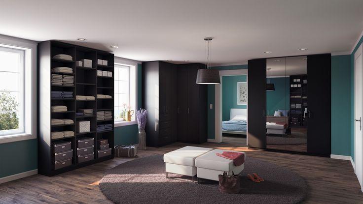 35 best begehbare kleiderschr nke images on pinterest. Black Bedroom Furniture Sets. Home Design Ideas