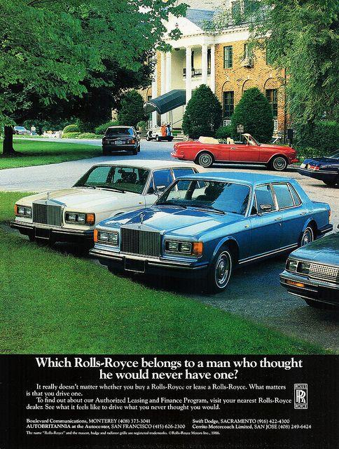 1986 Rolls-Royce Silver Spur & Corniche by aldenjewell, via Flickr