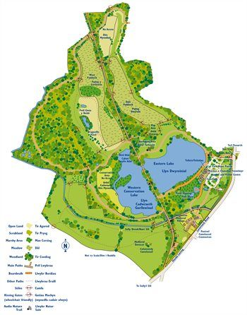 Cosmeston Lakes Map
