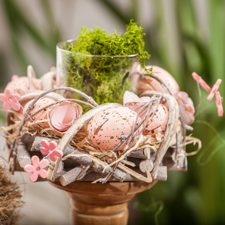 Cute Pink Decorations - Butterflies, Flowers, Moss and Magic
