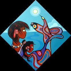 Original Paintings>>> Original Paintings - Stardreamer - Ritchie Sinclair - Canada - Canadian Native Art Spirit - Woodland Art - Thunderbird Art - Morrisseau Protege