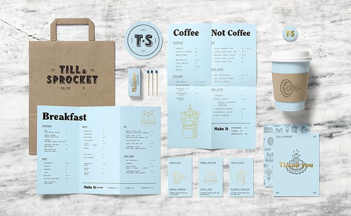 Till & Sprocket Menu by Will Gardner / lovely color selection