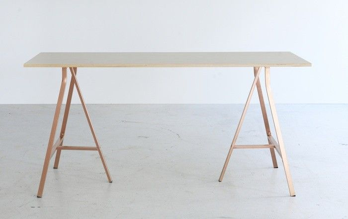 Ikea Bråkig Limited Edition Collection Sawhorse Desk | Remodelista