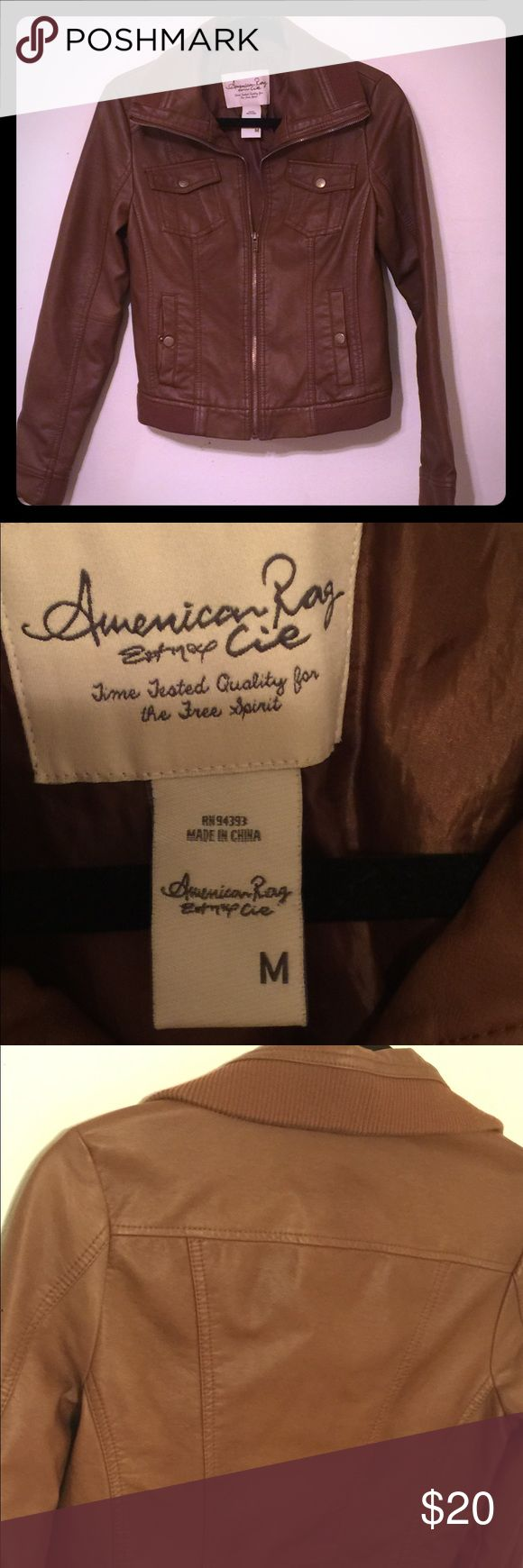 American Rag jacket This is a very cute American rag faux leather jacket in great condition. Perfect for fall or in between season. American Rag Jackets & Coats