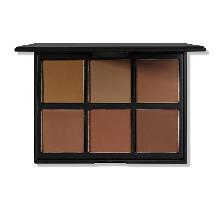 """This complete palette for contour, pressed powder and highlight is a go-to for medium and olive complexions to even the deepest of skin tones. Brighten your skin, define your features and mix colors together to create your perfect shade. Dimensions of Palette: Length: 4 3/4""""Width: 3 3/4""""Number of Pans: 6Pan Size: 1 1/2"""" X 1 1/2"""" Ingredients: Talc, Mica, Magnesium Stearate, Kaolin, Phenyl Trimethicone, Ethylhexyl Palmitate, Dimethicone, Silica, Methylpar..."""