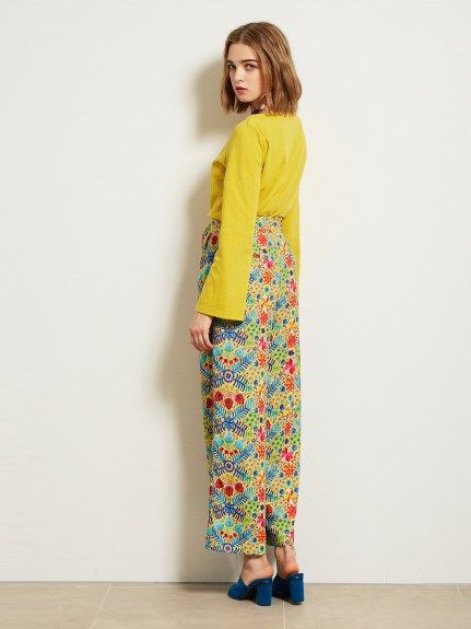 メキシコ柄ワイドパンツ(ワイドパンツ) Lily Brown(リリーブラウン) ファッション通販 ウサギオンライン公式通販サイト