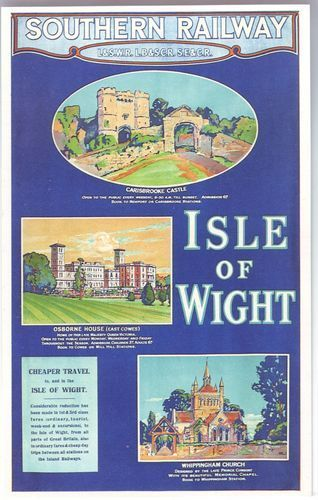 Isle of Wight Railway Poster
